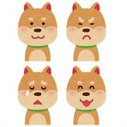 いろいろな表情の犬のイラスト